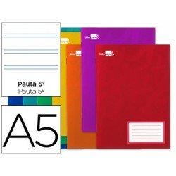 Libreta Liderpapel escolar Din A5 grapada pauta 2.5 mm