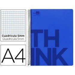 Bloc Din A4 Liderpapel serie Think cuadricula 5 mm azul