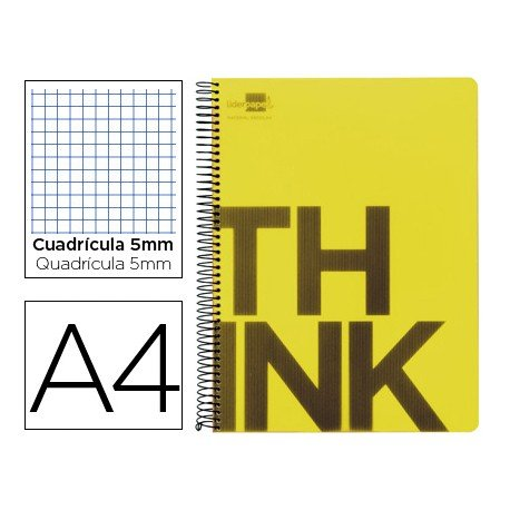 Bloc Din A4 Liderpapel serie Think cuadricula 5 mm amarillo