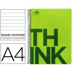 Bloc Din A4 Liderpapel serie Think rayado verde