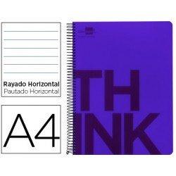 Bloc Din A4 Liderpapel serie Think rayado violeta