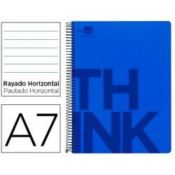 Bloc Din A7 Liderpapel serie Think rayado azul