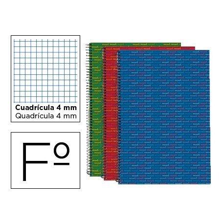 Bloc Folio espiral Tapa forrada serie Multilider Liderpapel