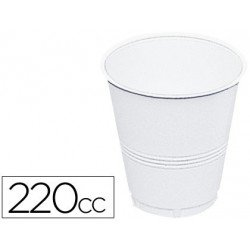 Vaso plástico blanco 220 cc 100 uds