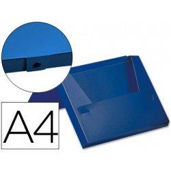 Carpeta lomo rigido con broche Beautone Din A4 azul