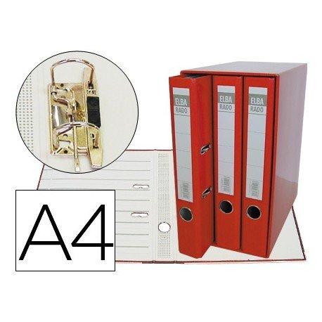 Modulo con 3 archivadores Elba de palanca Color Rojo