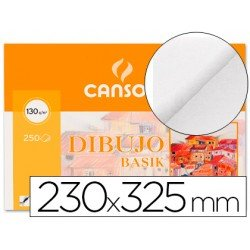 Papel dibujo Canson 230x325 mm 130g/m2
