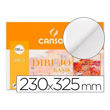Papel dibujo Canson 230x325 mm 130g/m2