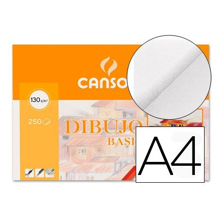 Papel dibujo Canson 210x297 mm 130g/m2