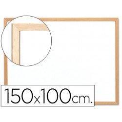 Pizarra Blanca laminada marco de madera 150x100 Q-Connect