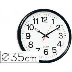 Reloj de pared plastico 38 cm marco negro