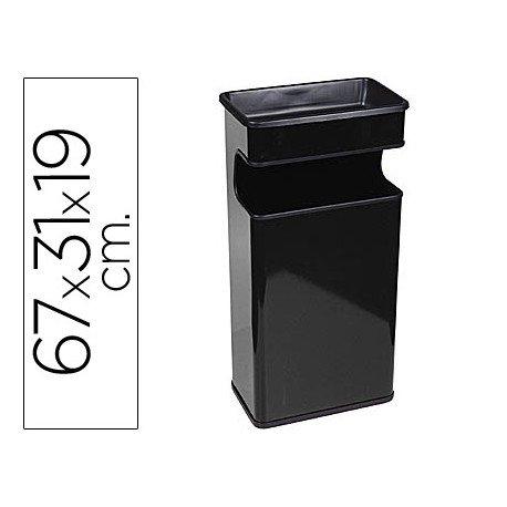 Cenicero papelera Sie negro 40 L