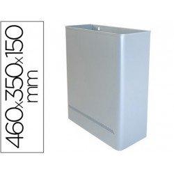 Papelera metalica de pared Sie 24 L plata