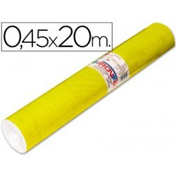 Aironfix Rollo Adhesivo 45cm x 20mt Unicolor Amarillo Brillo