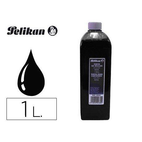 Tinta tampon PELIKAN Negro 1 litro