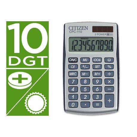 Calculadora Bolsillo Citizen CPC-110 10 digitos