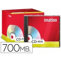 CD-RW 700MB 80min Regrabable 1x-4x/4x-12x Imation
