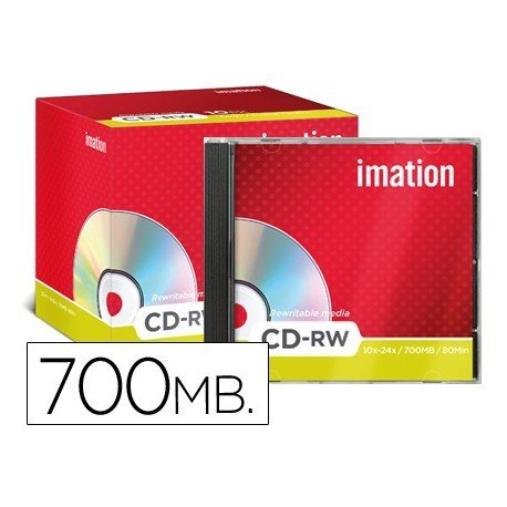 CD-RW 700MB 80min Regrabable 1x-4x/4x-12x Imation