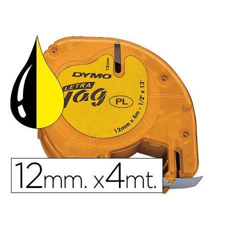 Cinta Dymo Letratag Amarillo Plástico