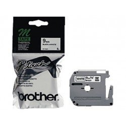 Cintas Brother MK-221BZ 9mm (ancho) x 8m (largo) negro/blanco