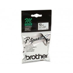 Cintas Brother MK-231 12mm (ancho) x 8m (largo) negro/blanco