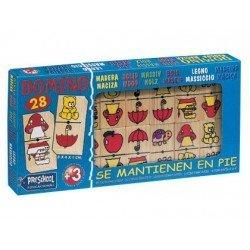 Domino madera figuras Falomir Juegos