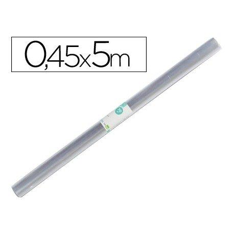 Rollo plastico forralibros Liderpapel 0,45 x 5 m.