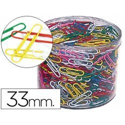 Clips colores Nº 2 Cps 33 mm