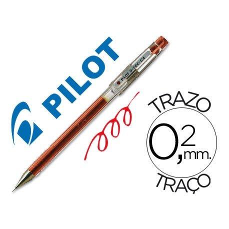 Boligrafo marca Pilot punta aguja 0,2 mm g-tec-c4 rojo