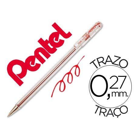 Boligrafo Pentel BK-77 rojo 0,27 mm