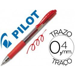 Boligrafo Pilot G-2 color Rojo 0,4 mm