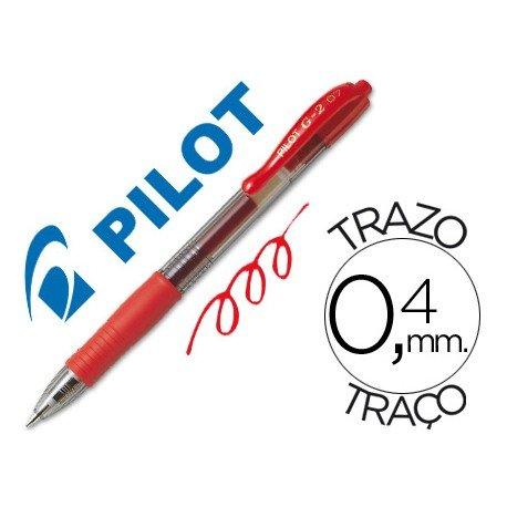 Boligrafo Pilot G-2 color Rojo 0,4 mm