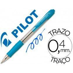 Boligrafo Pilot Super Grip Celeste tinta azul 0,4 mm