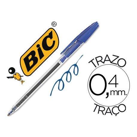 Boligrafo Bic Cristal Clic azul 0,4 mm