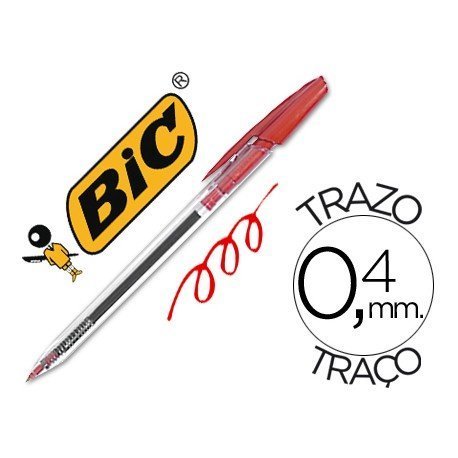 Boligrafo Bic Cristal Clic rojo 0,4 mm