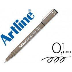 Rotulador Artline calibrado micrometrico negro 0,1 mm