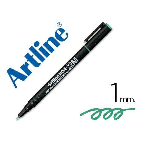 Rotulador retroproyección Artline EK-854 Permanente Verde Punta Redonda