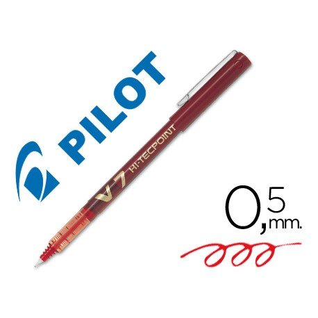 Rotulador Pilot V-7 0,5 mm Rojo