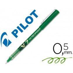 Rotulador Pilot V-7 0,5 mm Verde