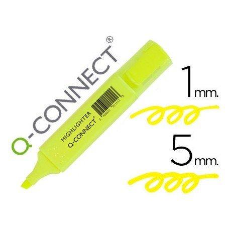 Rotulador fluorescente Q-Connect amarillo