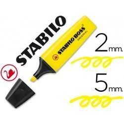 Rotulador Stabilo Boss 70 amarillo