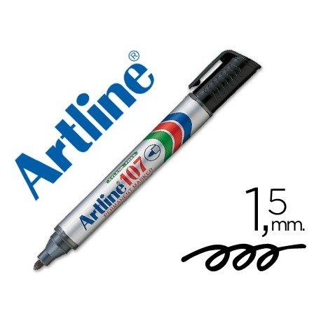 Rotulador Permanente Artline 107 Negro Punta Redonda