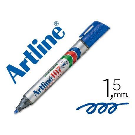 Rotulador Permanente Artline 107 Azul Punta Redonda