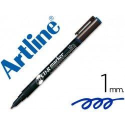 Rotulador Marcador Permanente Artline EK-884 Azul para CD y DVD