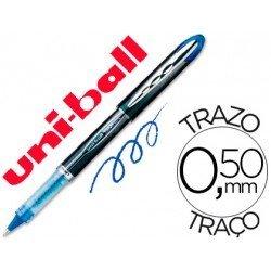 Rotulador-bolígrafo roller Uni-Ball azul UB-205 Vision 0,4 mm.