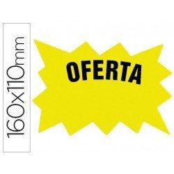 Etiqueta marcaprecios Oferta amarilla (160 x 110 mm)