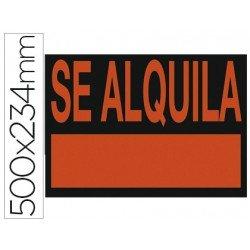 "Cartel ""Se alquila"" 50 x 23 cm"