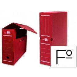 Cajas de archivo definitivo Liderpapel rojo folio