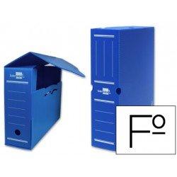 Cajas de archivo definitivo Liderpapel azul folio