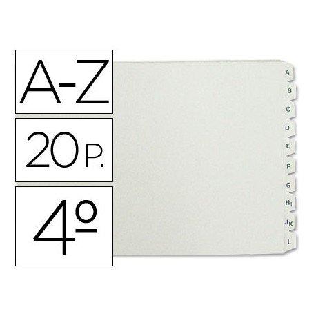 Separadores de plastico Multifin alfabetico Cuarto apaisado